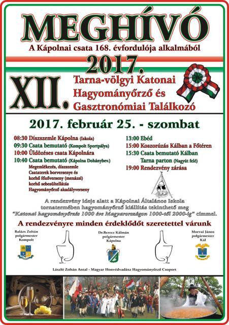 XII. Tarna-völgyi Katonai és Gasztronómiaia Találkozó